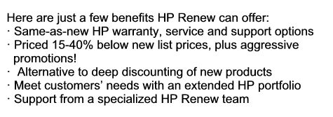 HP Renew benefits